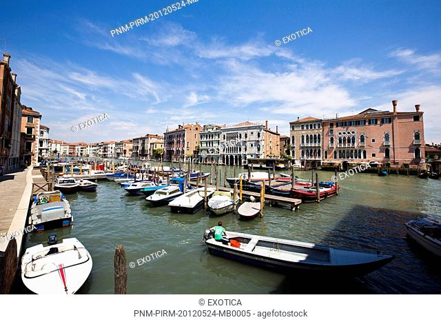 Boats in the canal, Murano, Venice, Veneto, Italy