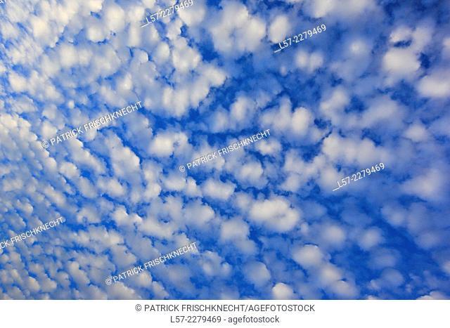 clouds in blue sky, Scotland