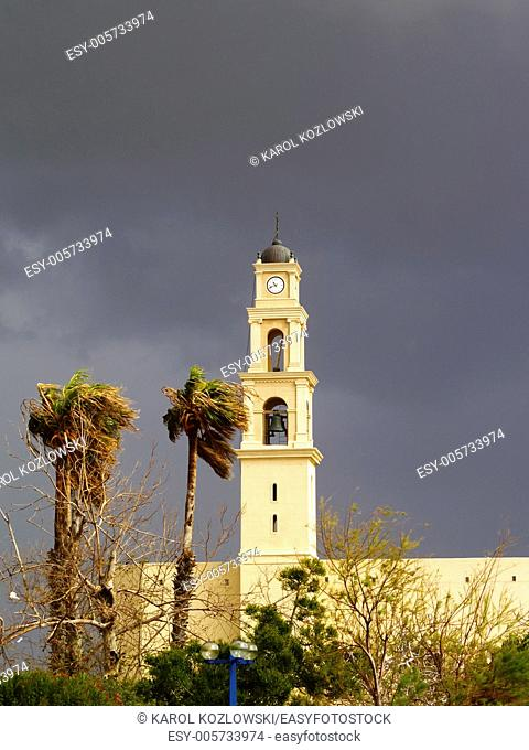 Church on the old town in Jaffa, Israel