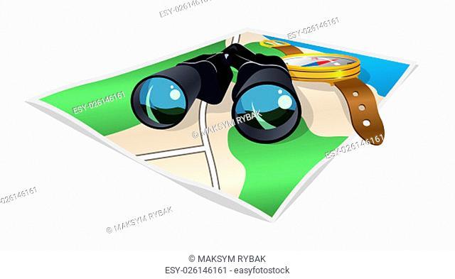 Travel symbol icons. Vector illustration isolated on white background