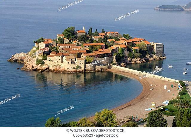 Sveti Stefan Peninsula,hotel complex,Adriatic coast,Montenegro