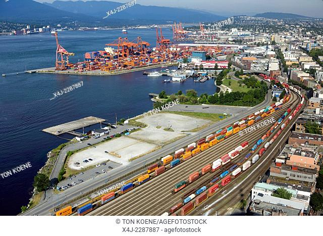 aerial view on vancouver harbour