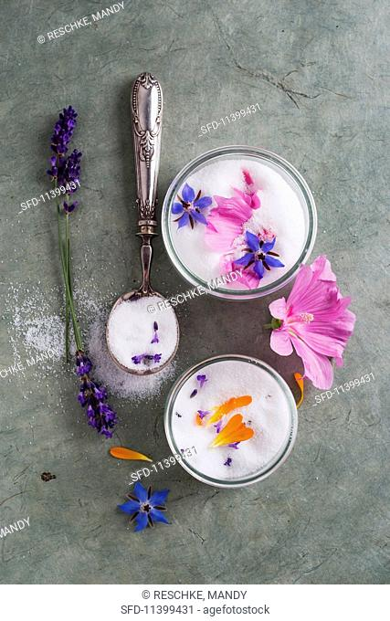 Sugar flavoured with flowers