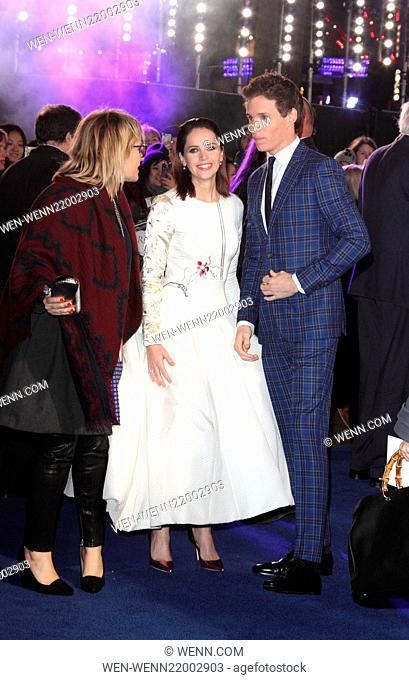 'The Theory of Everything' UK Premiere at the Odeon, Leicester Square, London Featuring: Eddie Redmayne, Felicity Jones Where: London
