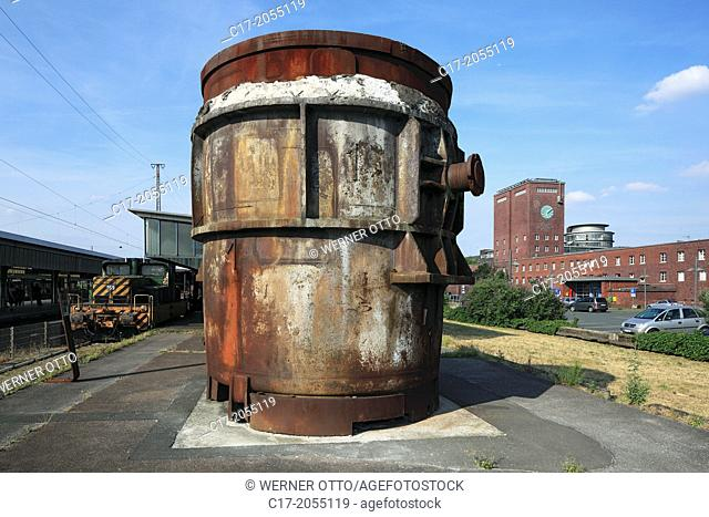 Germany, Oberhausen, Ruhr area, Lower Rhine, Rhineland, North Rhine-Westphalia, NRW, LVR Industrial Museum, main station Oberhausen, museum platform
