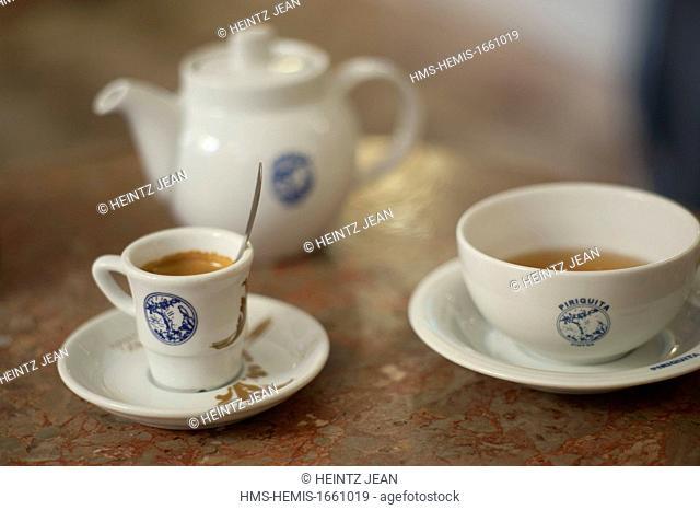 Portugal, Estramadura, Sintra, listed on UNESCO World Heritage, tea room