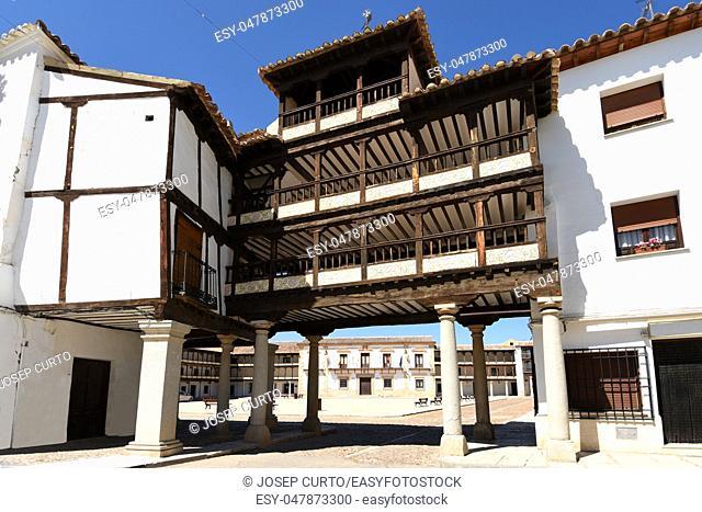 Main Square of Tembleque,Toledo province, Castile-La Mancha, Spain