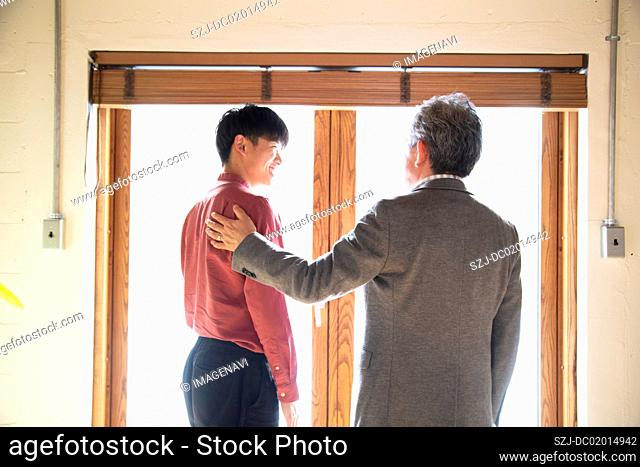 Young man expected by boss