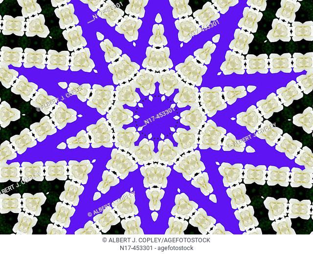 kaleidoscope pattern, mosaic