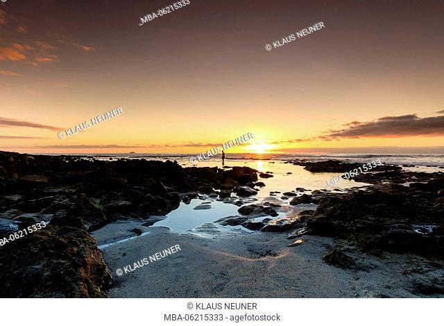 Evening seaside, evening mood, Las Americas, Tenerife, Canary Islands, Europe