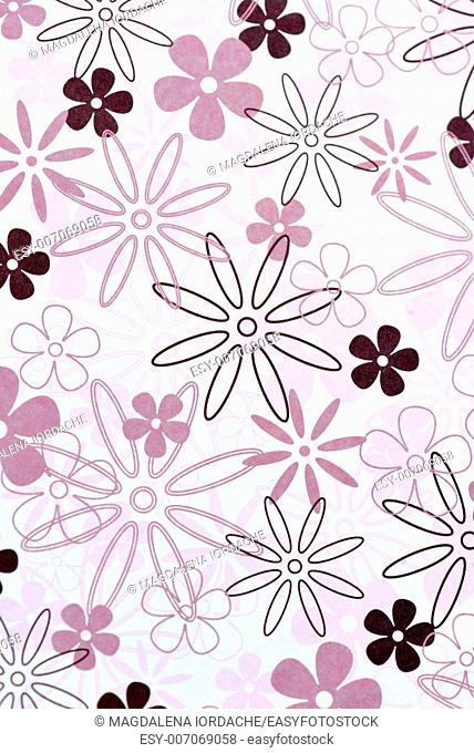 pattern paper background with flowers
