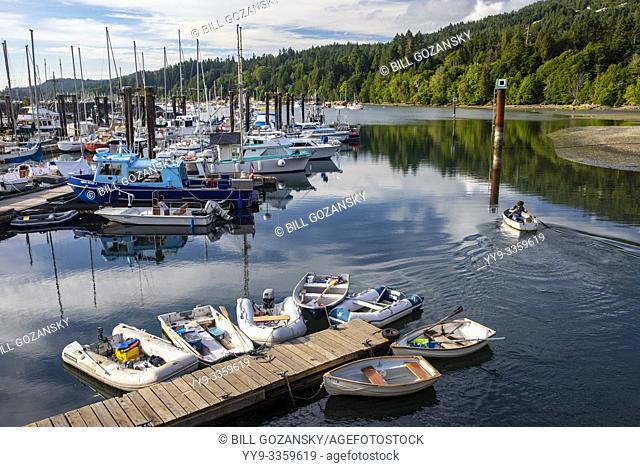 Marina in Ganges Harbour - Salt Spring Island, British Columbia, Canada