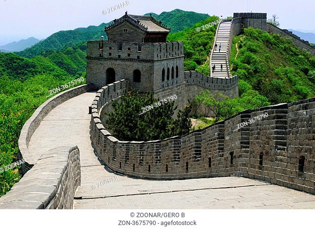 Große Mauer mit Wehrturm China, Great Wall of China fortified tower