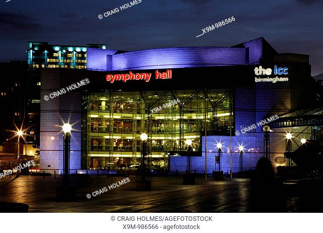 Symphony Hall and ICC International Convention Centre in Centenary Square  Birmingham, UK