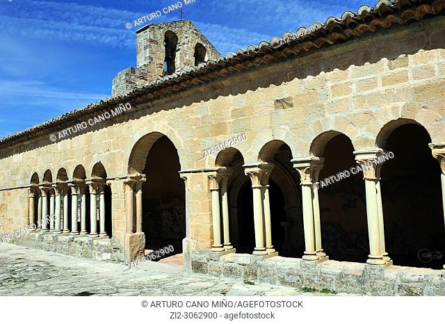 The Romanesque church, XIIIth century. Saúca town, Guadalajara province, Spain