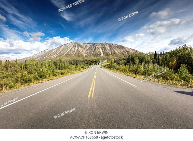 Going south on the Haines Highway in the Yukon Territory of Canada