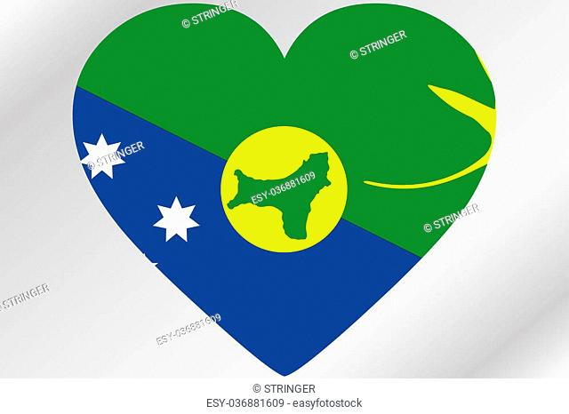A Flag Illustration of a heart with the flag of Christmas Island