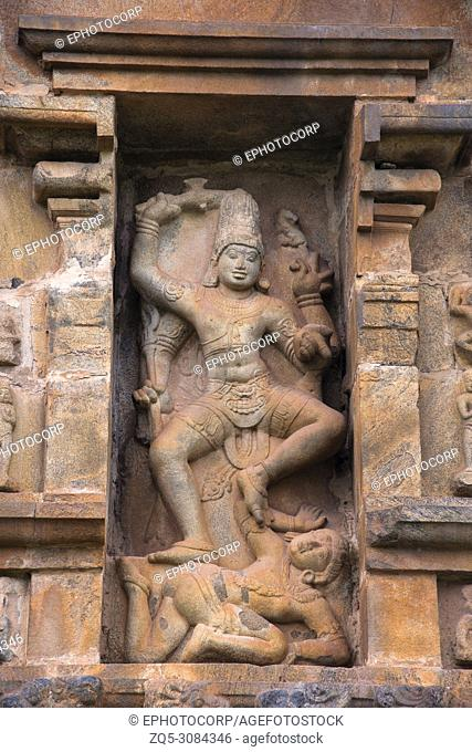 Shiva as Kalantaka, niche on the northern wall, Brihadisvara Temple, Gangaikondacholapuram, Tamil Nadu, India
