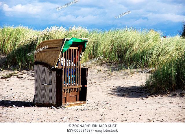 Beachchair on the beach from Heiligenhafen, German