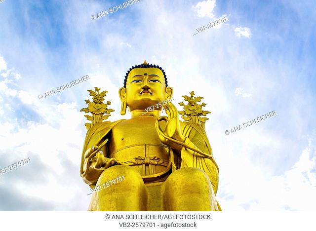 Giant golden Buddha at Likkir gompa, Ladakh India