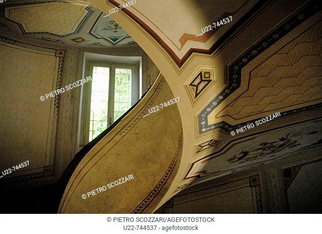 Vignola Modena, Italy, Palazzo Barozzi's winding staircase