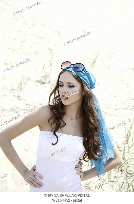 Young girl wearing bodysuit