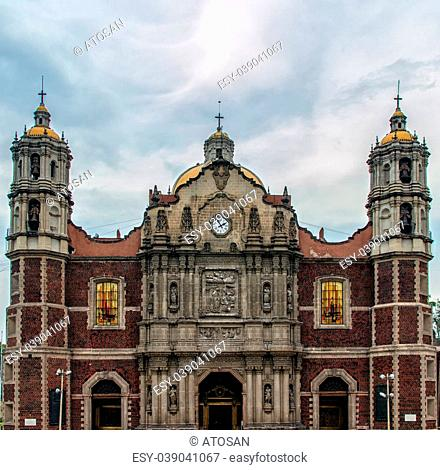 Facade of Our Lady of Guadalupe sanctuary in Mexico city