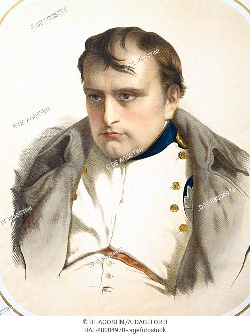 Portrait of the Emperor Napoleon Bonaparte (1769-1821), coloured print, 19th century. Vienna, Historisches Museum der Stadt Wien (History Museum)