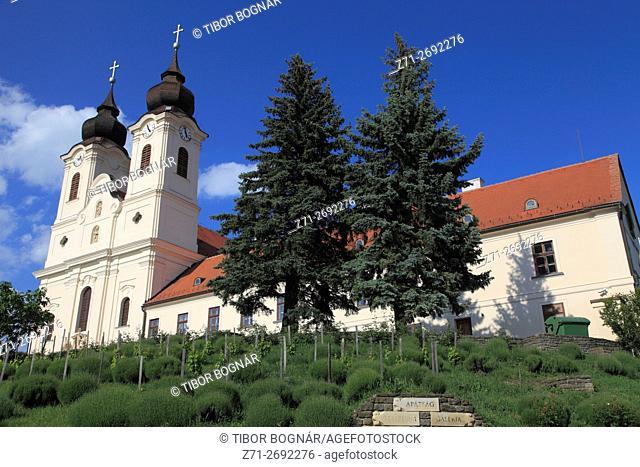 Hungary, Tihany, Abbey Church, park, garden,
