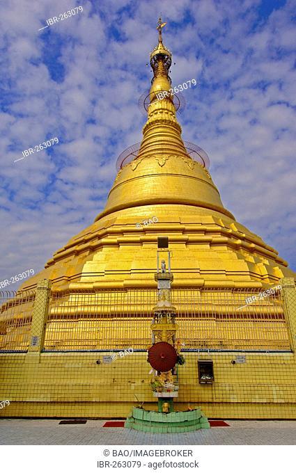 Botataung pagoda at Yangon, Rangoon, Myanmar, Burma