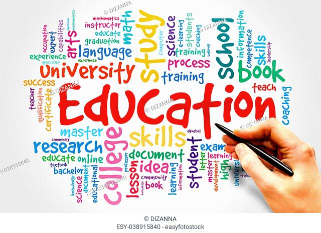 Education and learning word business collage concept