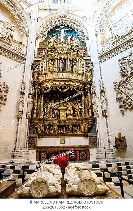 Sepulcher of the Condestables of Castile is a funeral monument made by Felipe Vigarny in Carrara marble, around 1492, with the lying statues of Pedro Fernandez...