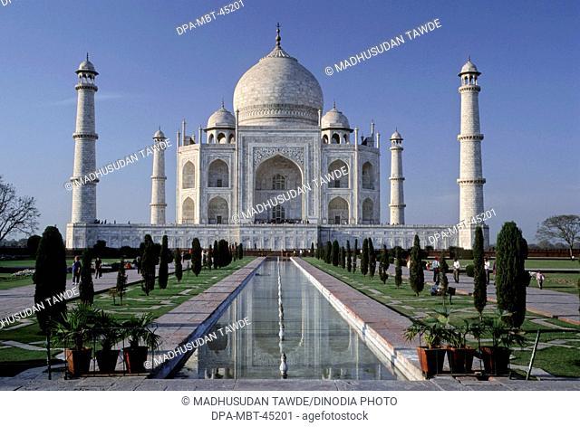 Taj mahal Seventh Wonder of The World; Agra ; Uttar Pradesh ; India