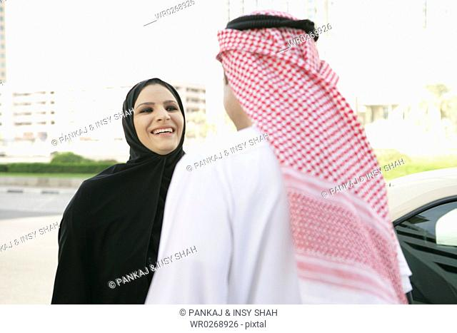Arab couple on a conversation