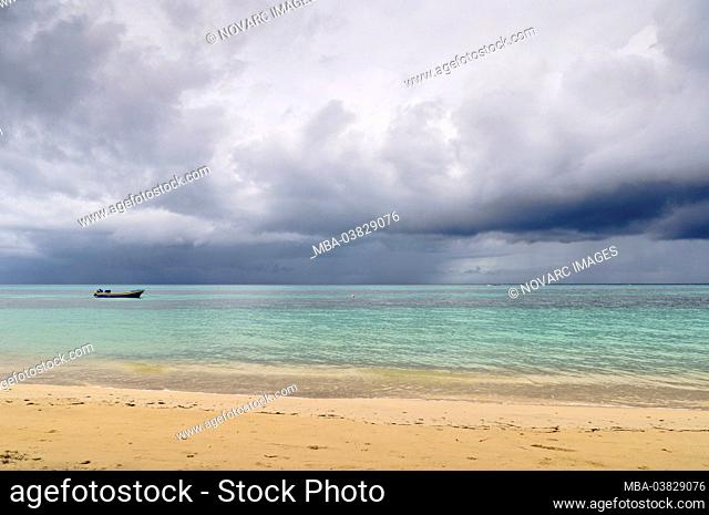 Caribbean thunderstorm, Little Corn Island, Nicaragua, Central America