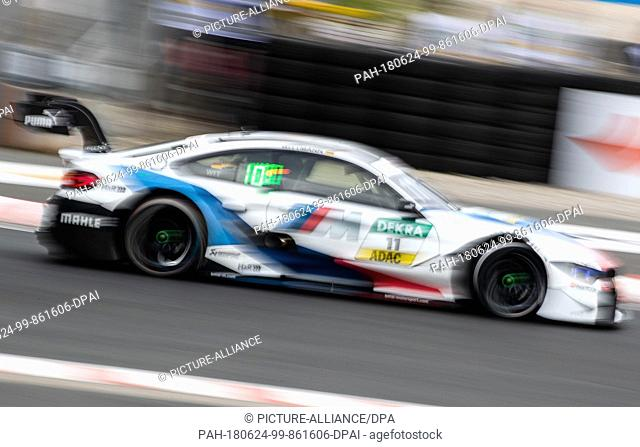 24 June 2018, Germany, Nuernberg, Motorsport, Deutsche Tourenwagen Masters, Norisring, 2nd Race: Marco Wittmann (C, BMW Team RMG) Photo: Daniel Karmann/dpa