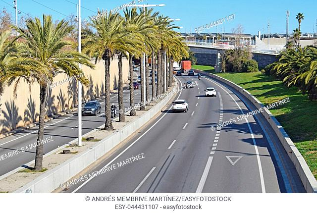 Ronda de Litoral in Barcelona