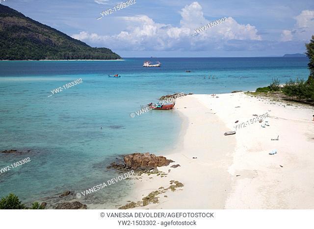 View on a beach at Ko Lipi, Thailand