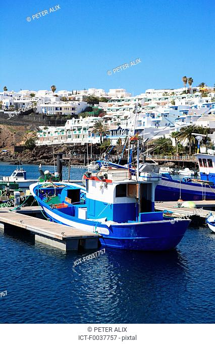Spain, Canary islands, Lanzarote, puerto del carmen, the port