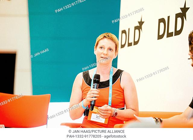 BAYREUTH/GERMANY - JUNE 21: Sigrun Albert (MGO Ventures) speaks in a panel discussion on the stage during the DLD Campus event at the University of Bayreuth on...