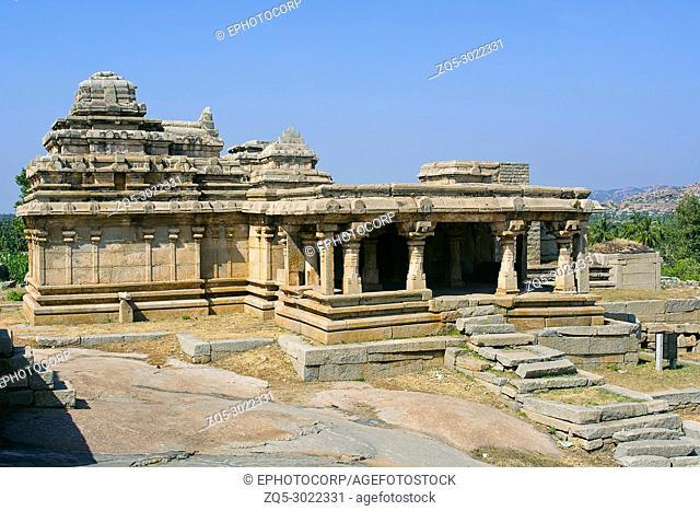Shiva temple, Hemakuta Hill, Hampi, Karnataka, India. Sacred Center