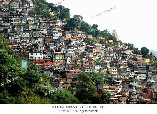 Brazil, Rio de Janeiro, the Favela in Santa Teresa neighborhood