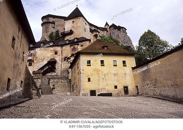 The medieval Orava castle, Slovakia