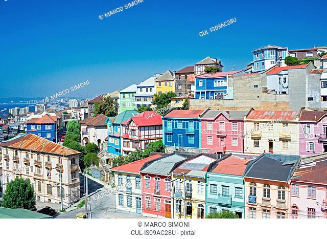 Traditional houses, Valparaiso, Chile