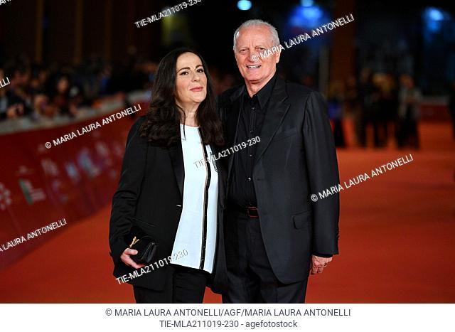 Francesca De Stefano, Santo Versace during the red carpet of film ' Il ladro di giorni ' at the 14th Rome Film Festival, Rome, ITALY-20-10-2019