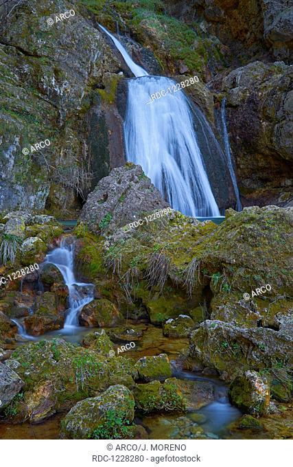 Source of Mundo river, Mundo River, Calares del Rio Mundo, Riopar, Sierra de Alcaraz and Segura, Albacete, Castilla la Mancha, Spain