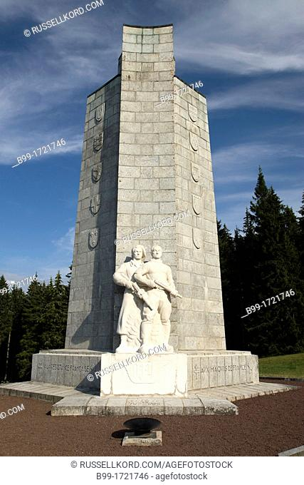 Maquis French Resistance Monument Mont-mouchet Margeride Forest Cantal Auvergne France