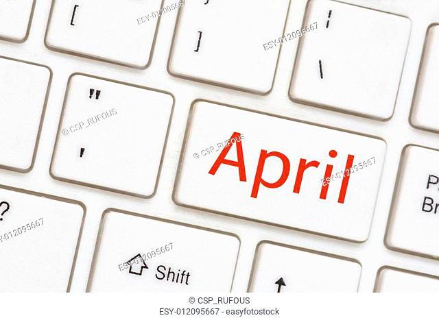 Computer key - April