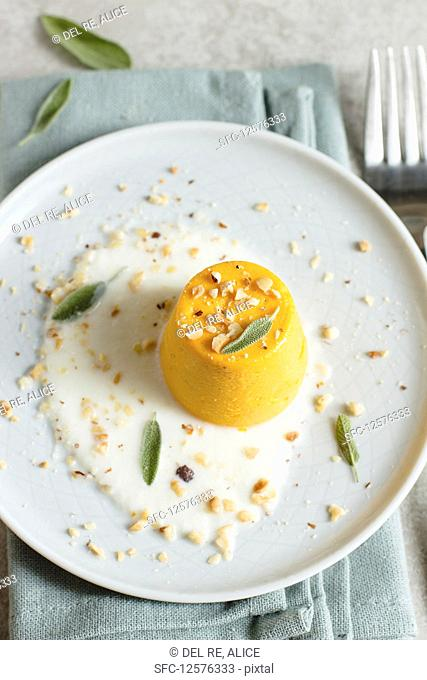Carrot and sage souffle