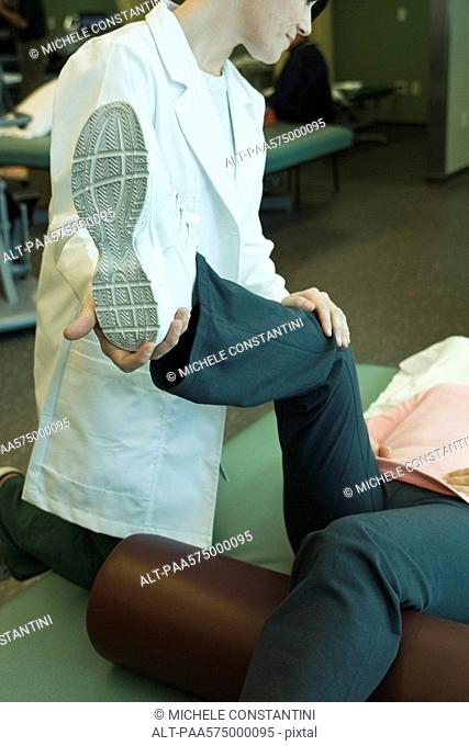 Patient receiving physical therapy treatment